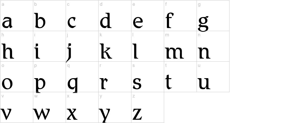 BD Renaissance lowercase