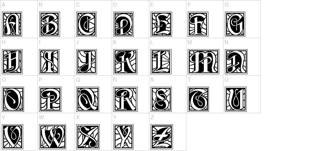 BD Renaissance uppercase