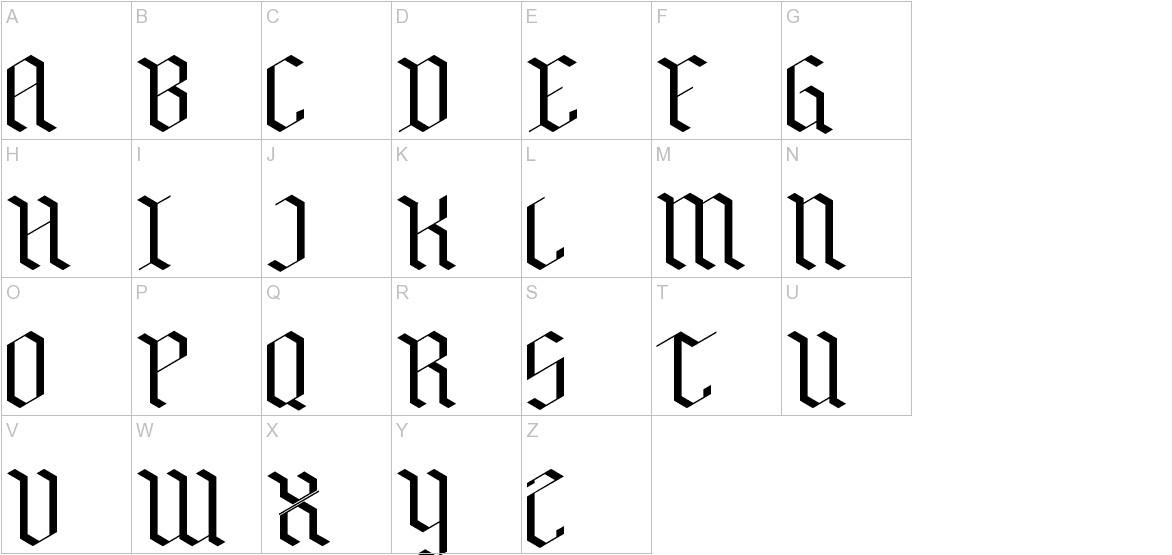 Bensch Gothic uppercase