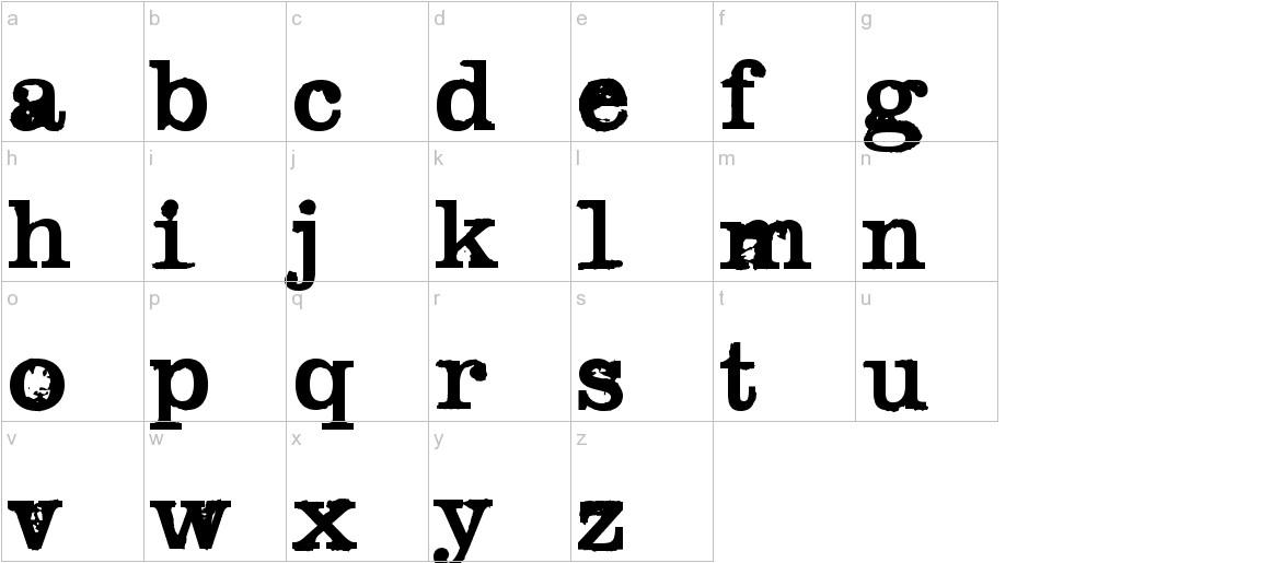 Black Widow lowercase