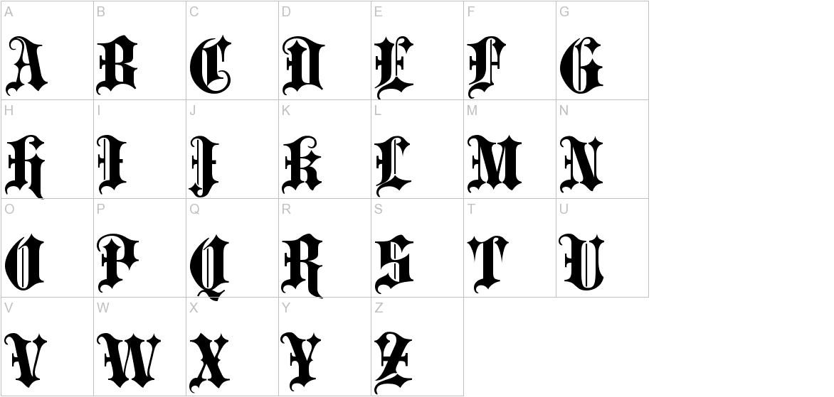 Blackletter ExtraBold uppercase