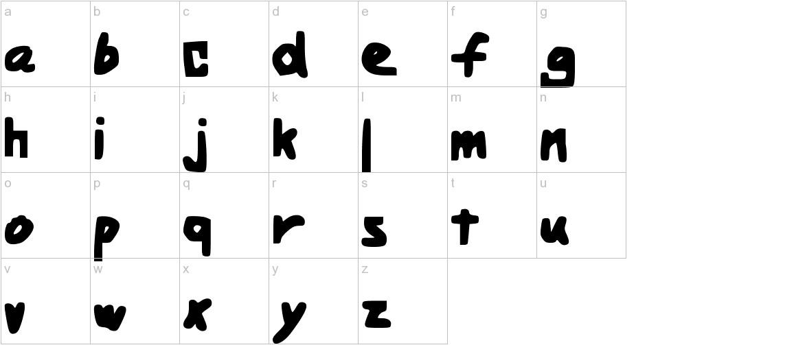 BoldHandwriting lowercase