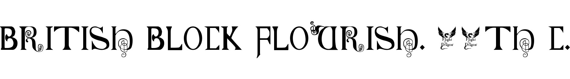 British Block Flourish, 10th c.