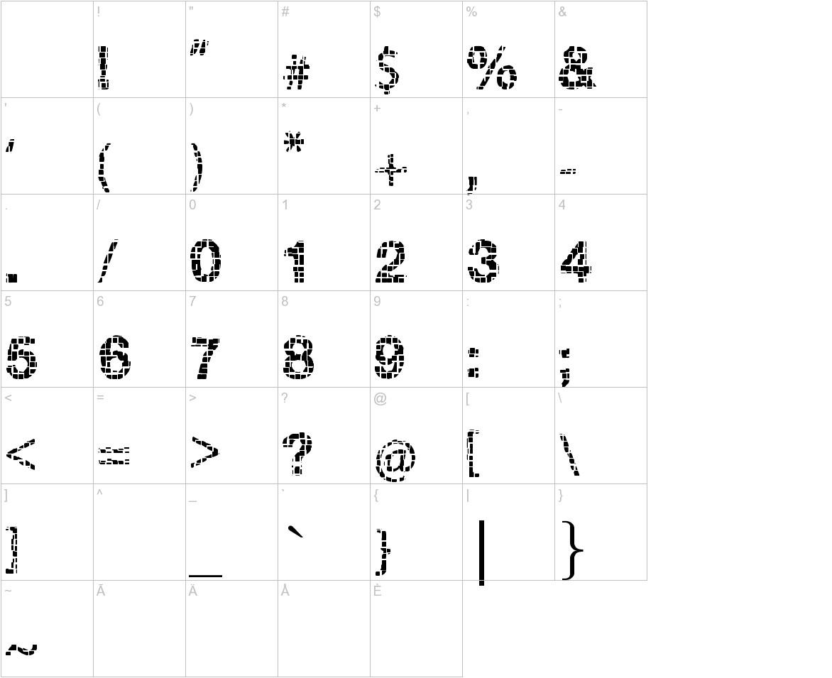 Broken Squares characters