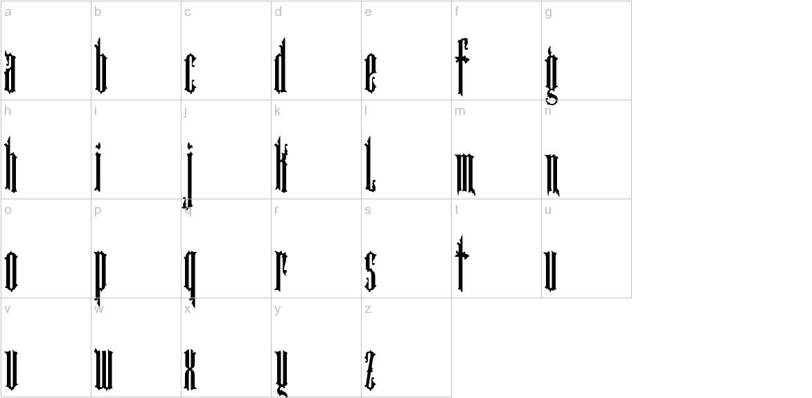 Cartographer lowercase
