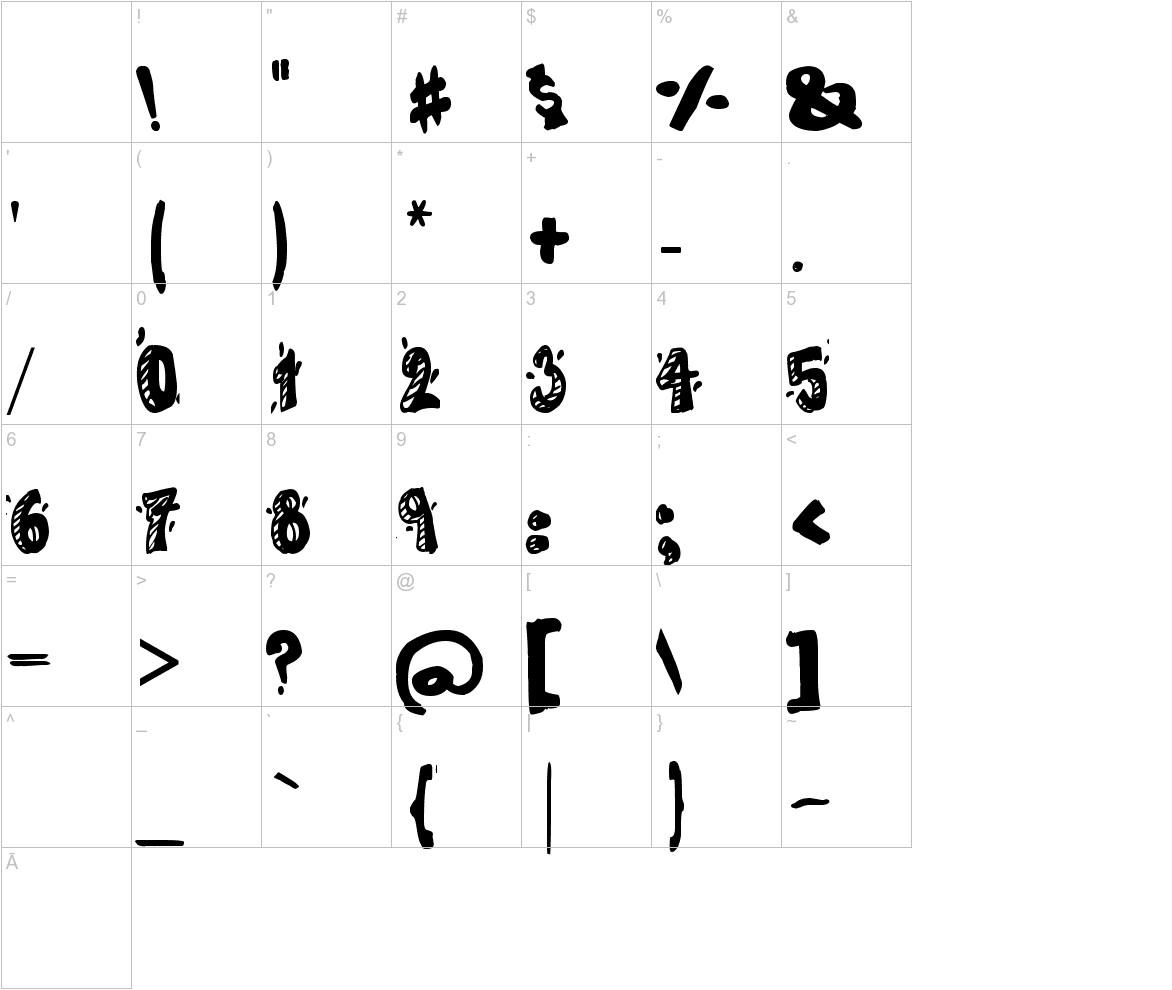 CARTOON 80 characters