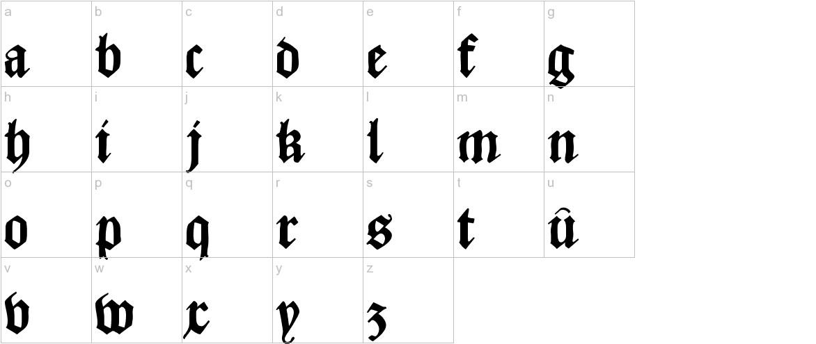 CaslonishFraxx lowercase