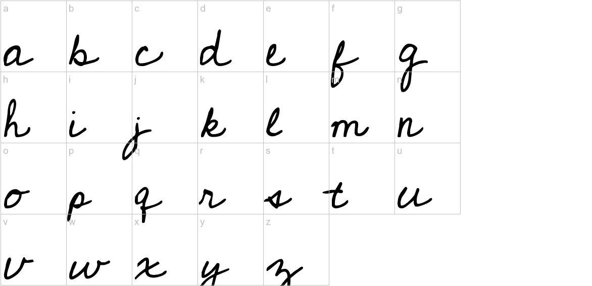 Cedarville Pnkfun1 Cursive lowercase