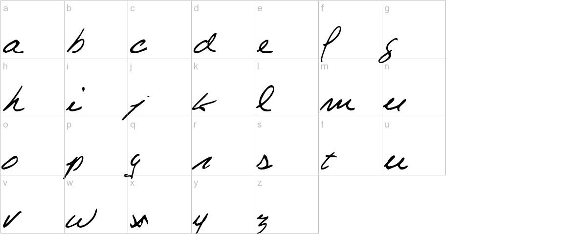 Celine Dion Handwriting lowercase