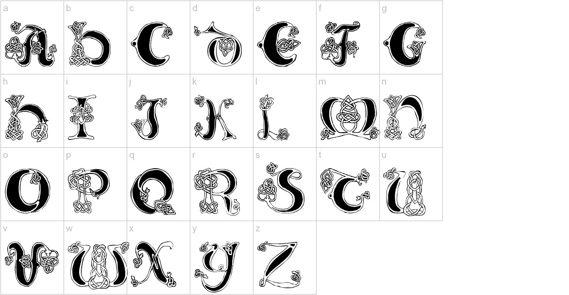 Celtic Knot lowercase
