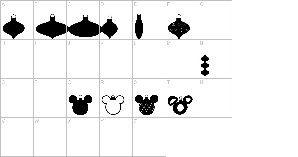 Christmas Mouse uppercase