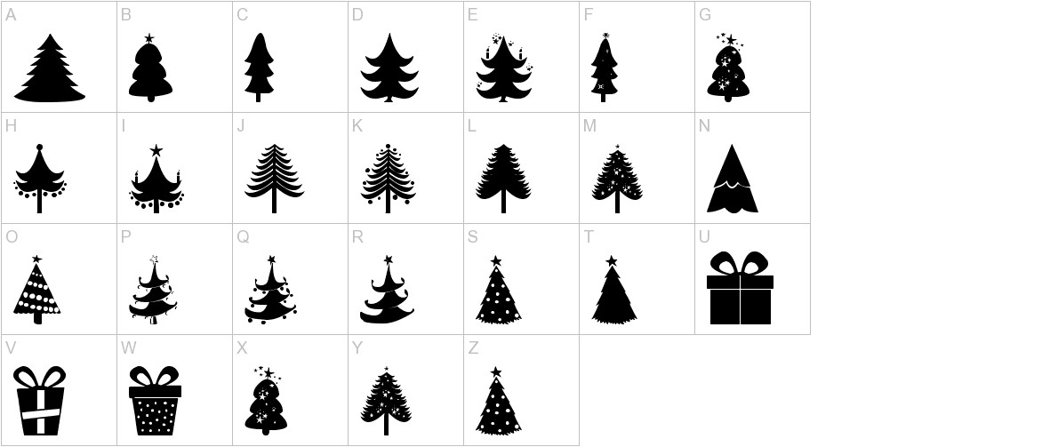 Christmas Trees uppercase