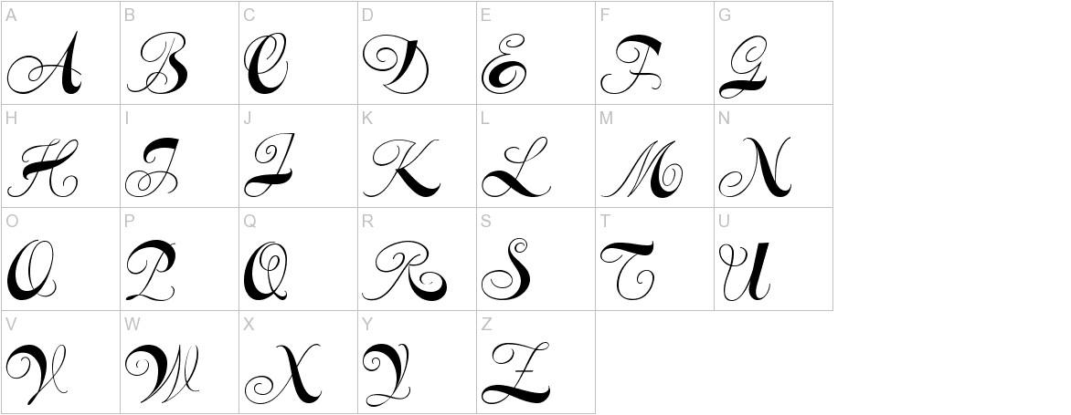 Constanze Initials uppercase