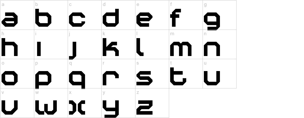 Construktiv lowercase