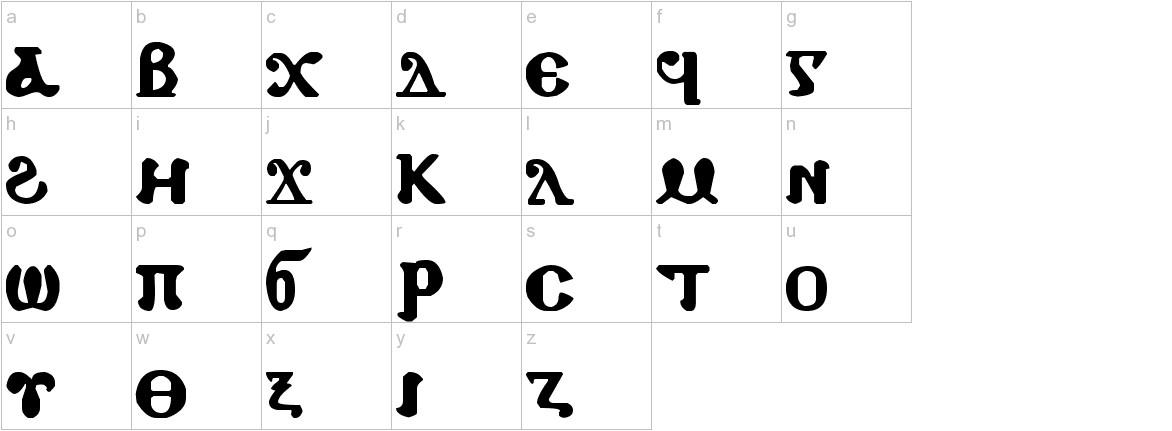 Coptic Eyes Coptic lowercase
