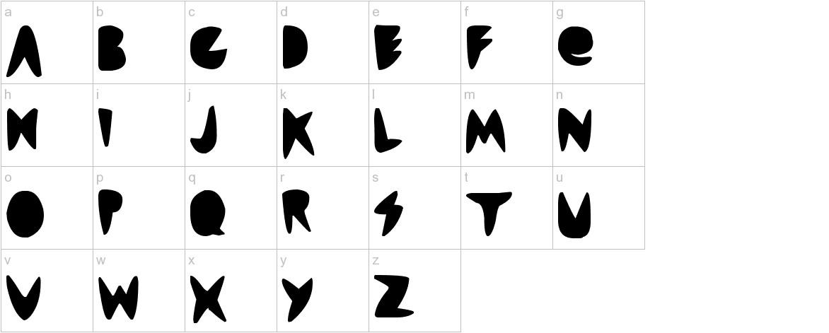 cordontvfont lowercase