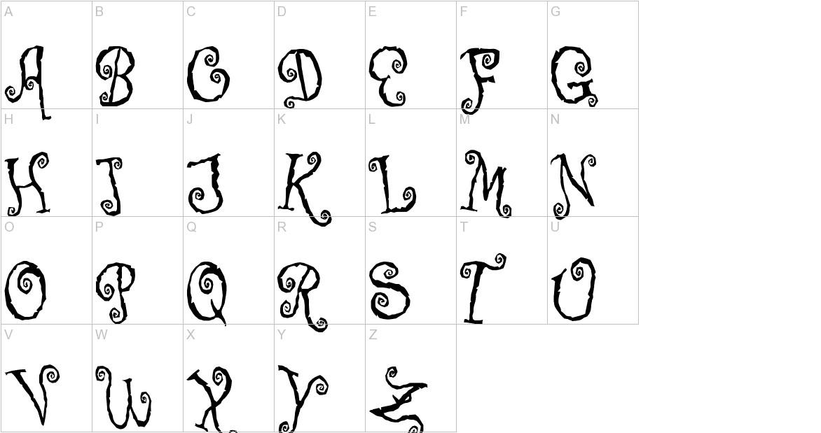 Corps-Script uppercase