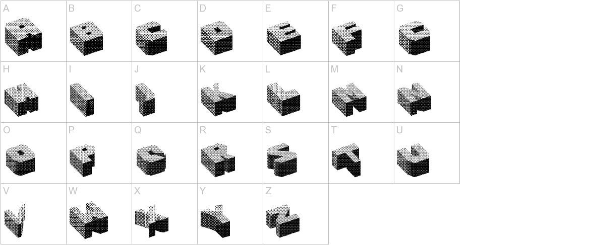 Cubefont uppercase