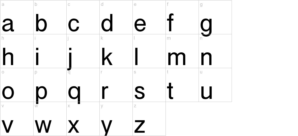 Cubefont lowercase