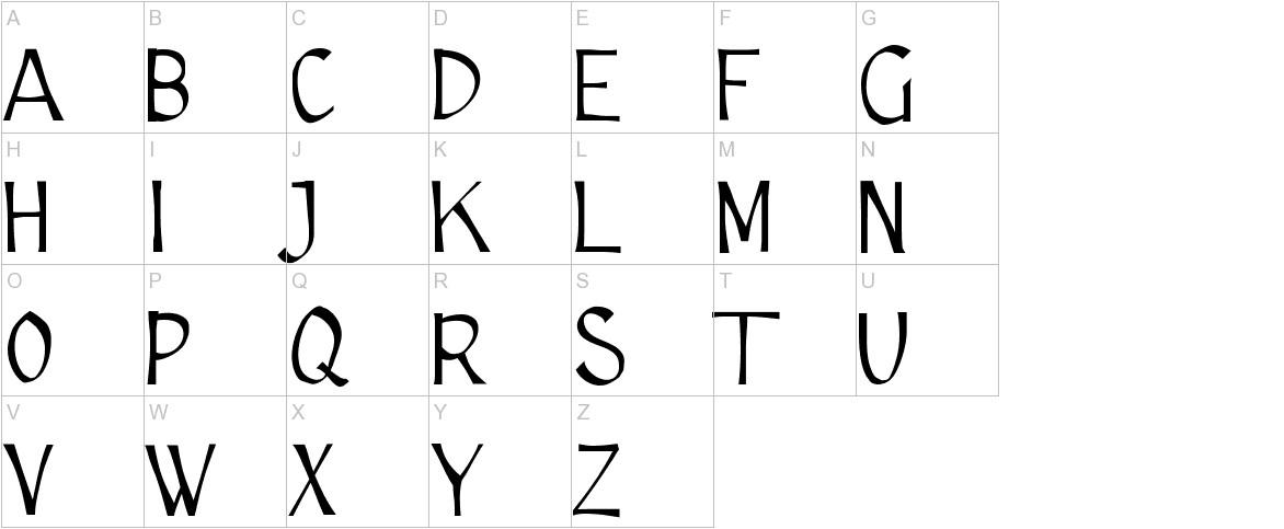 Cutscript uppercase
