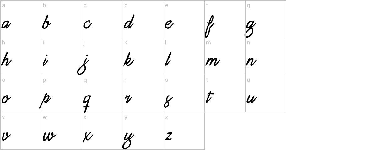 Daisy Script lowercase