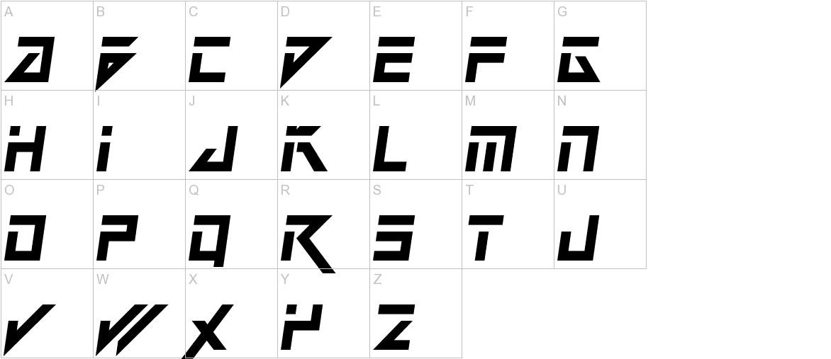 Dark Future Italic uppercase