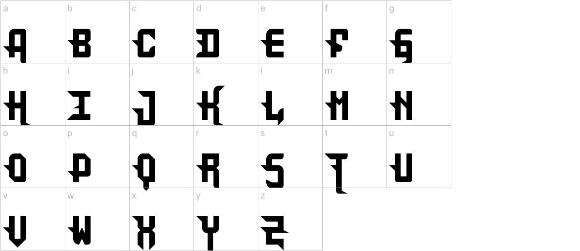 DarkPix Gothic lowercase