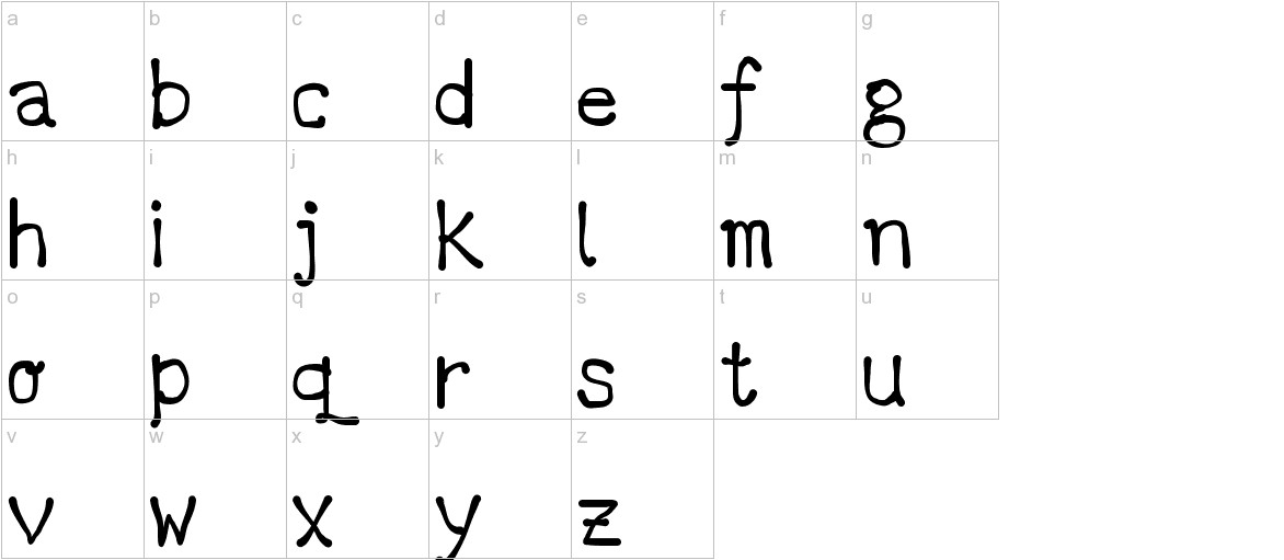 DCC - Marker latino lowercase