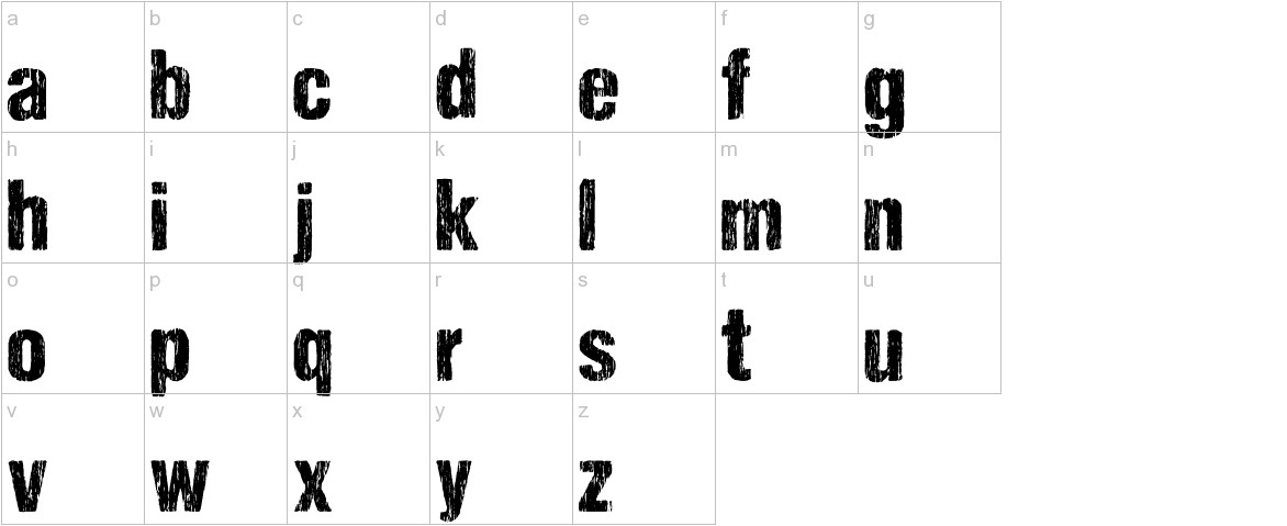 DCC - Sharp Distress Black lowercase