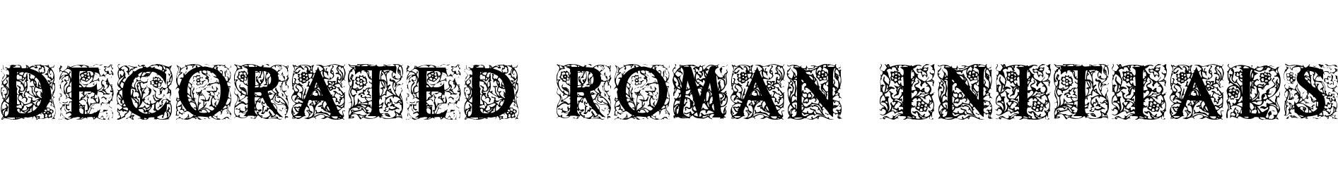 Decorated Roman Initials