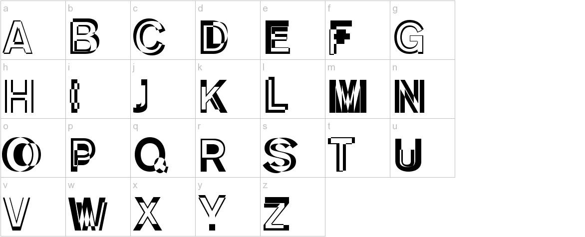 DeKunst Initialen lowercase