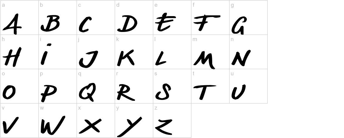 Denishandwritting lowercase