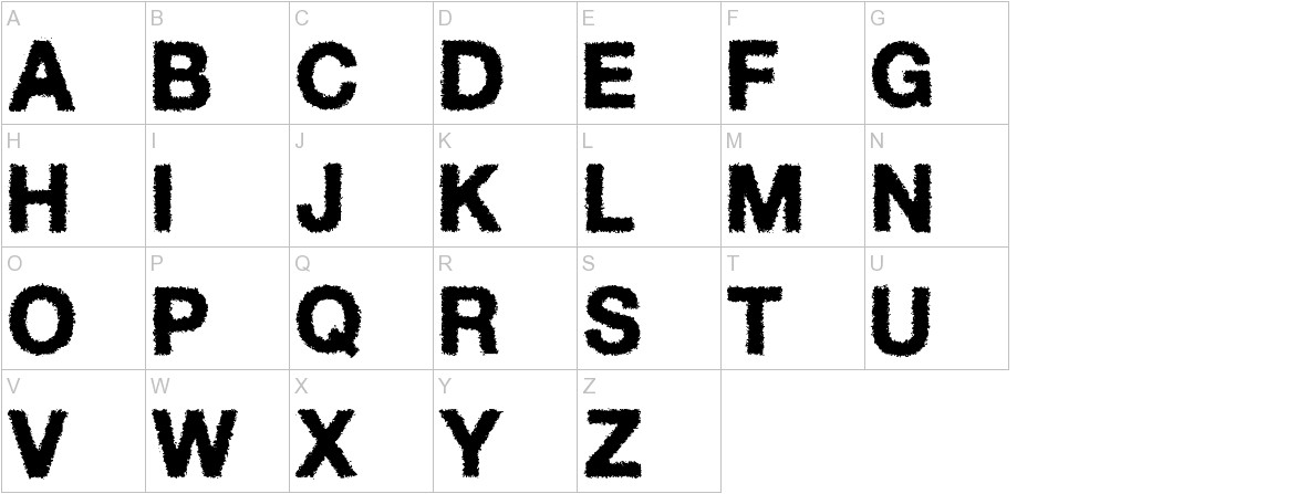 Diffuse-Away uppercase