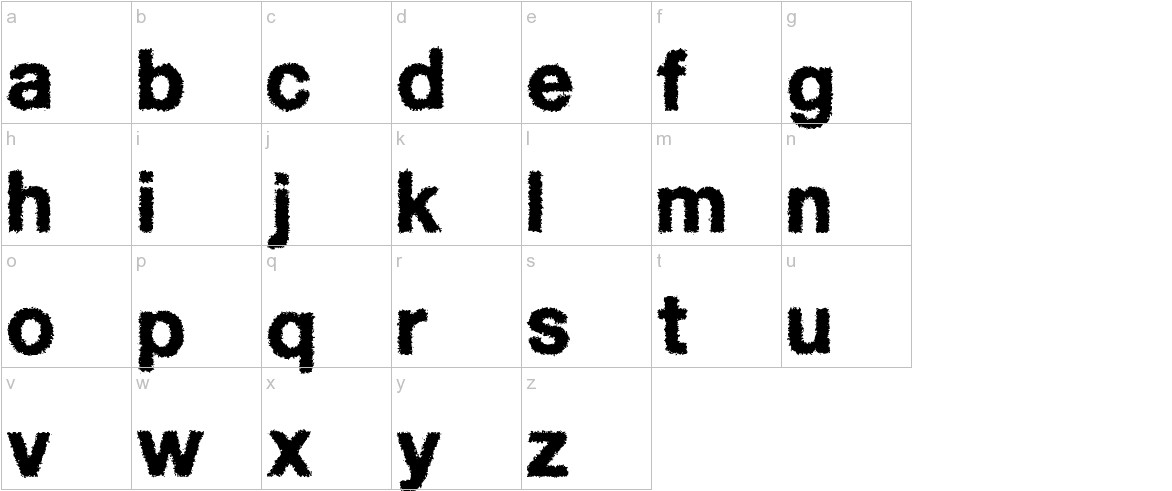 Diffuse-Away lowercase