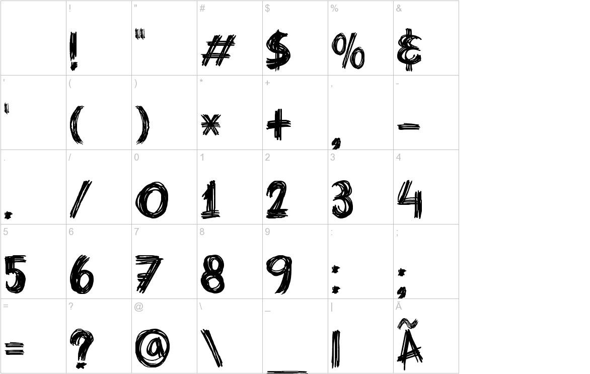 DK Criss Cross characters