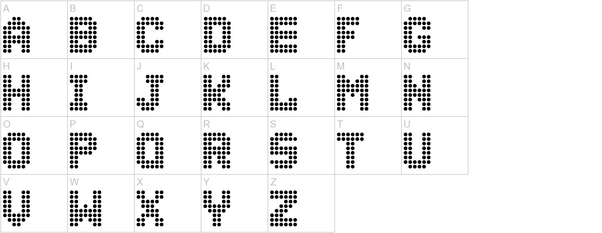 Dolly Dots uppercase