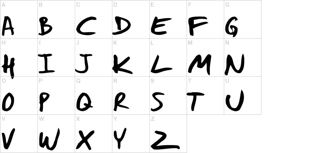 Daniel Werneck's Handwriting uppercase