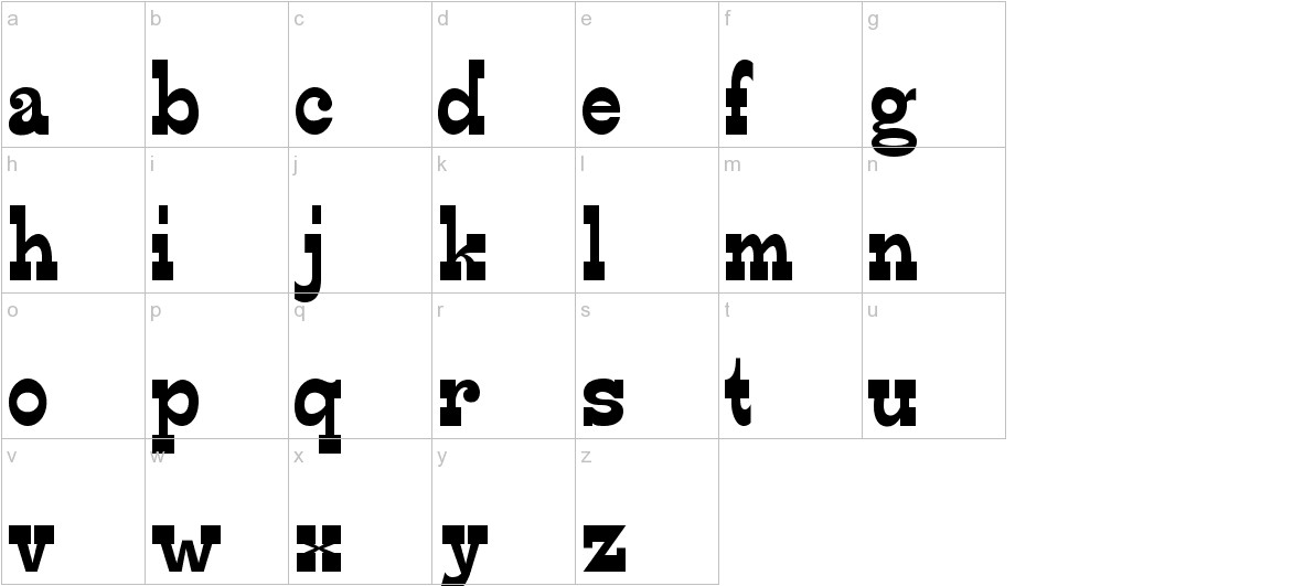 Edmunds-Regular lowercase