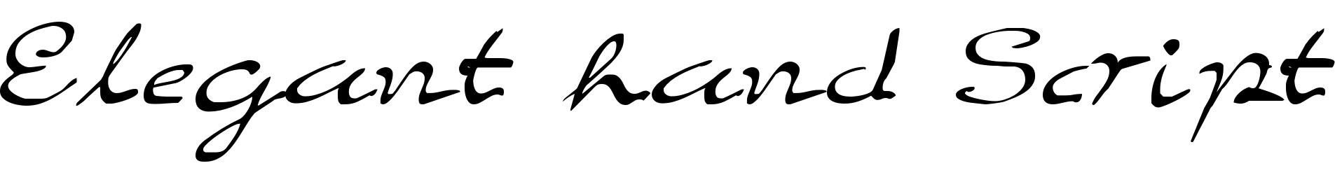 Elegant hand Script