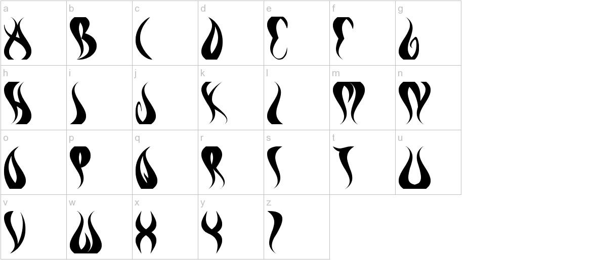 eternal flame lowercase