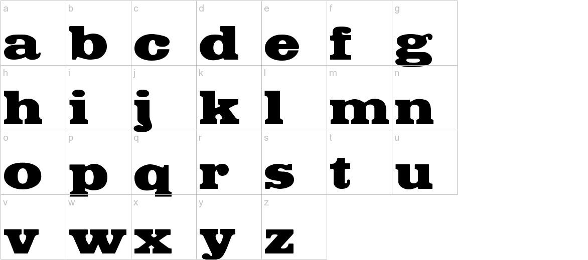 FetteEgyptienne lowercase