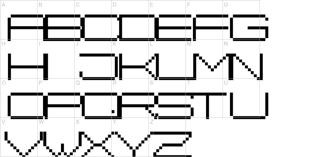 Fisk Bitmap Nr2 uppercase