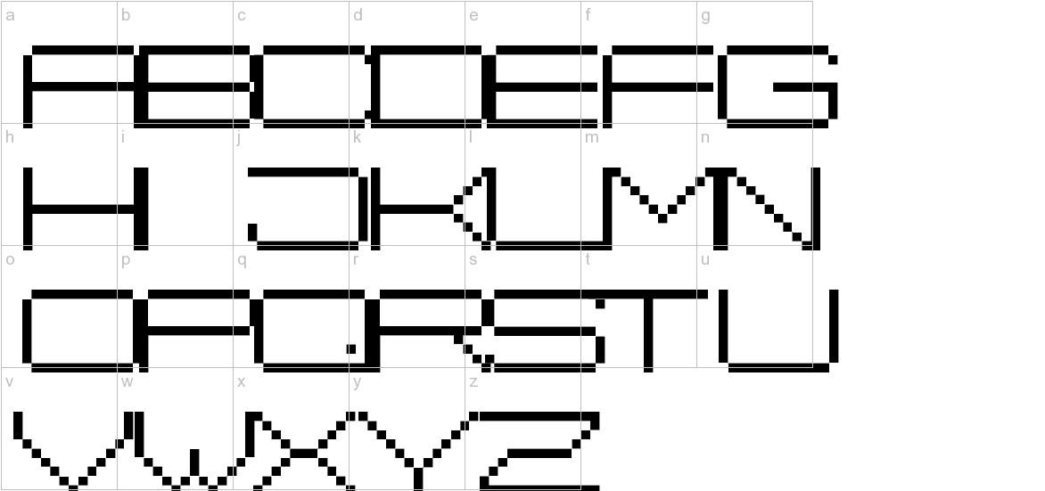 Fisk Bitmap Nr2 lowercase