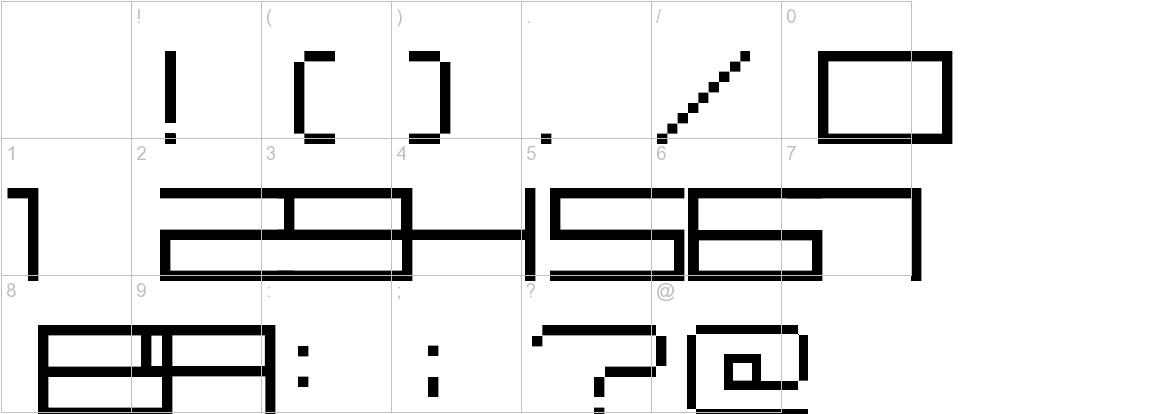 Fisk Bitmap Nr2 characters