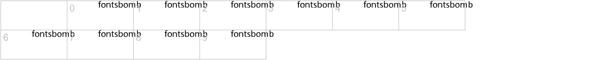 Fonts Bomb Skipper characters
