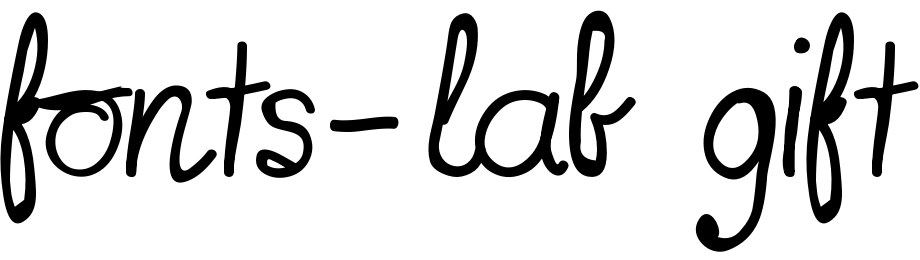 fonts-lab gift