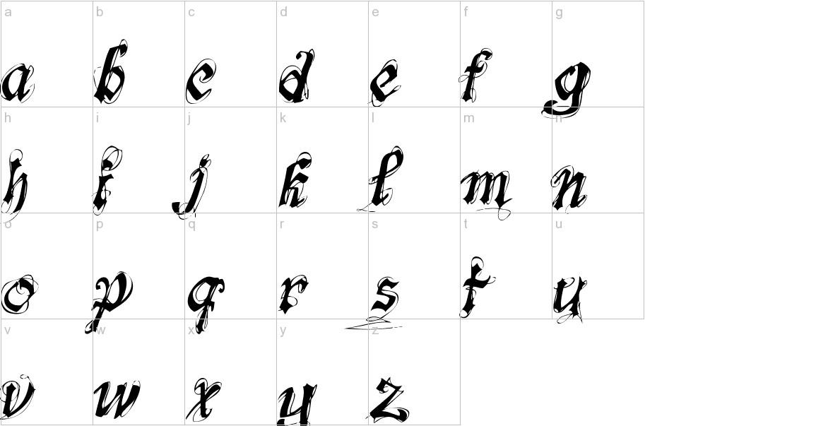 fonts-lab Symphony lowercase