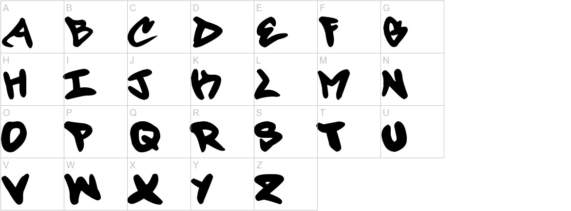 Forty Script uppercase
