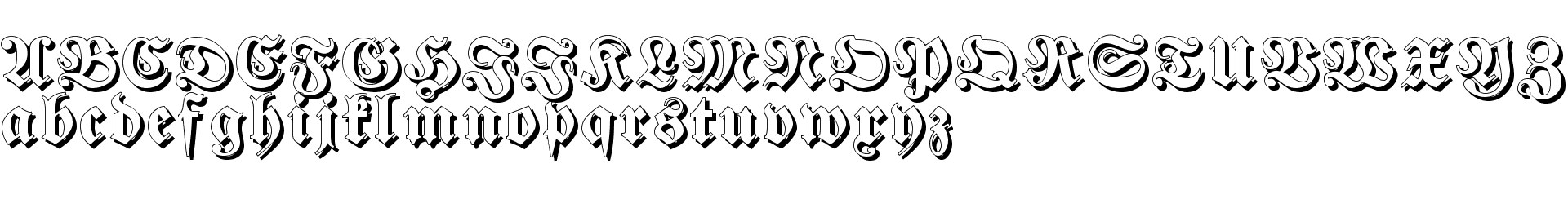Fraktur Shadowed