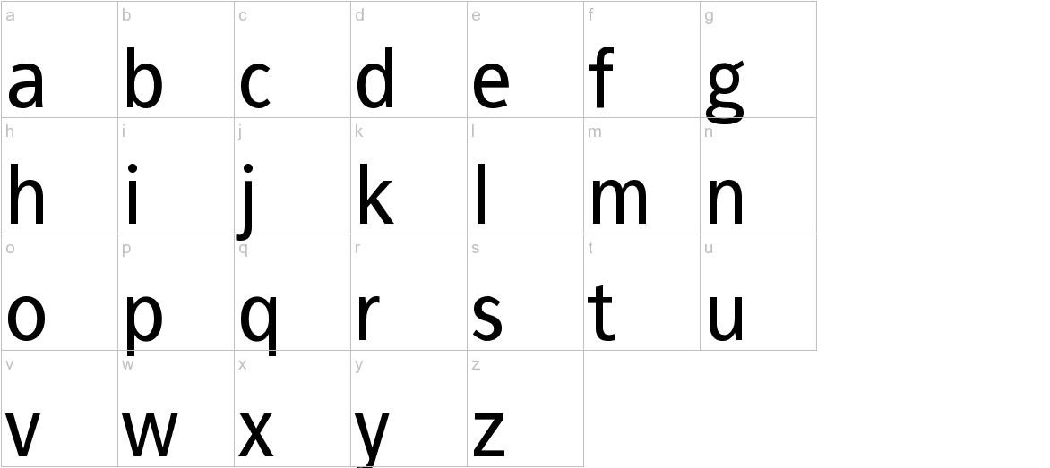 FrancophilSans lowercase